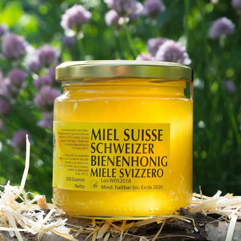 Frühlingshonig 500g Glas   Imkerei-Eberle   Honig Region Zürich