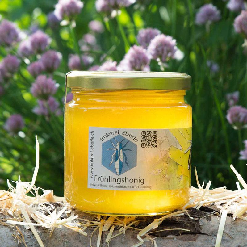 Frühlingshonig 500g Glas   Imkerei-Eberle   Schweizer Bienenhonig